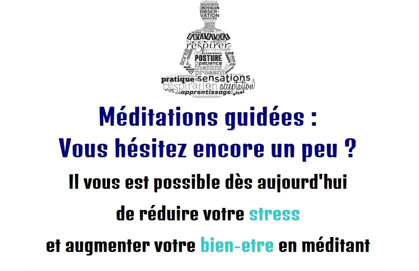 Méditations guidées pour un bon stress au travail et au quotidien